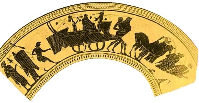 Thespiskarren / Das Schiff des Dionysos (Quelle: hellenica.de - GNU-Lizenz für freie Dokumentation)